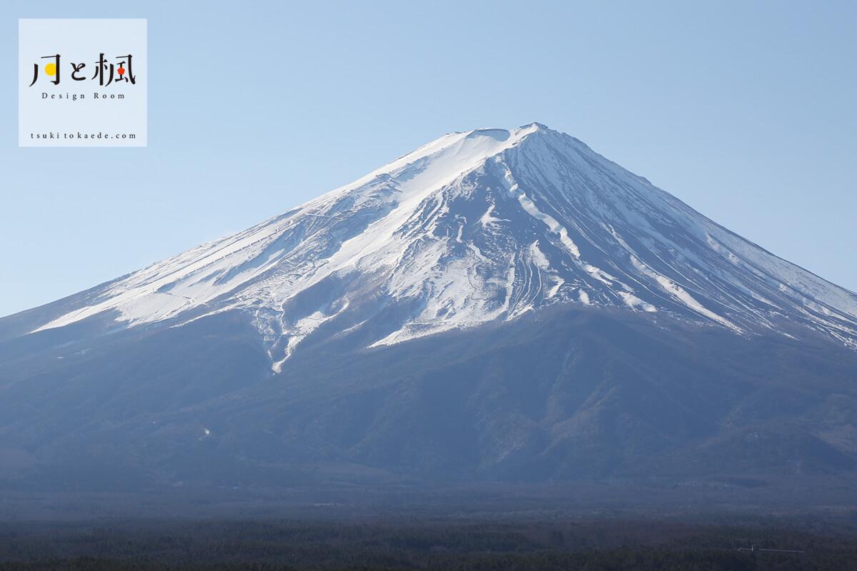 山梨から見た富士山